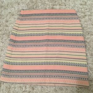 Pink petite patterned pencil skirt from Loft